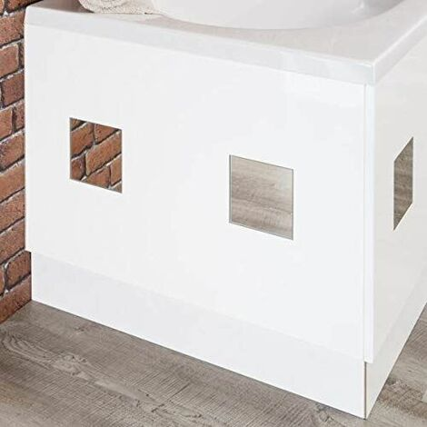 Ceramica White Mirror Bath Panel 700mm