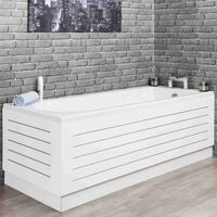Ceramica White Stainless Steel Strip Bath Side Panel 1700x465mm