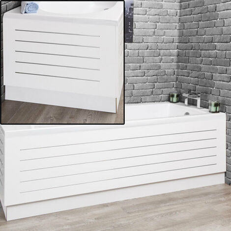 Ceramica White Steel Strip Bath Panel Pack 1700mm/700mm