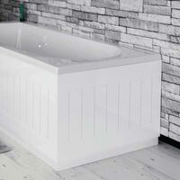 Ceramica White Tongue & Groove End Panel - 700mm