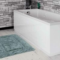 Ceramica White Tongue & Groove Side Panel - 1700mm