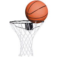 Cercle de basket - cercle et filet - support mural et ballon inclus