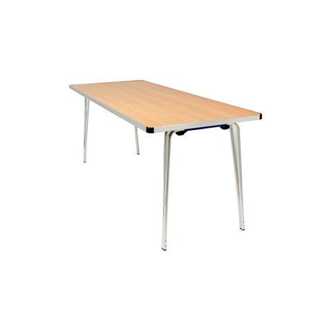 Ceri Oak 6Ft Aluminium Framed Portable Folding Table - Various Colour