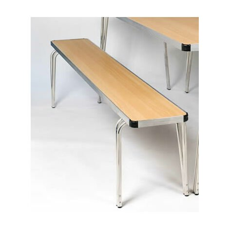 Ceri Oak 6Ft Aluminium Framed Stacking Bench - Various Colours