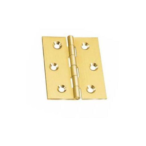 2 Pz Cerniera Piana per Porta a Libro in Acciaio Inox Satinato 76x63 mm conf