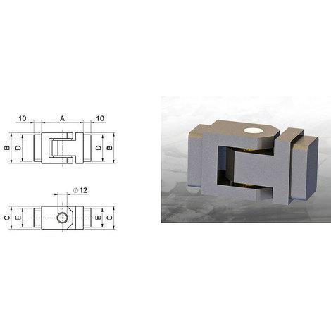 Cerniera inferriata 30x30mm Combi Arialdo 1600.30x30 range 53-76mm saldatura cancello