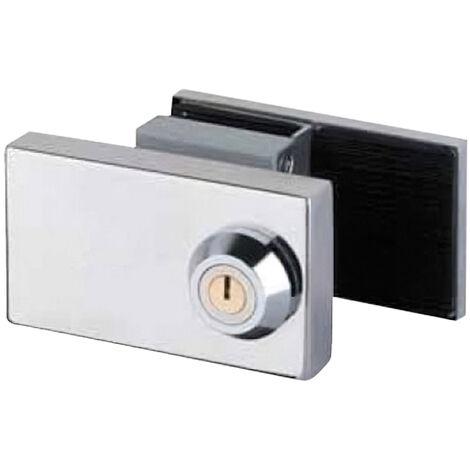 Cerradura cbm 2002 puerta cristal llave plana