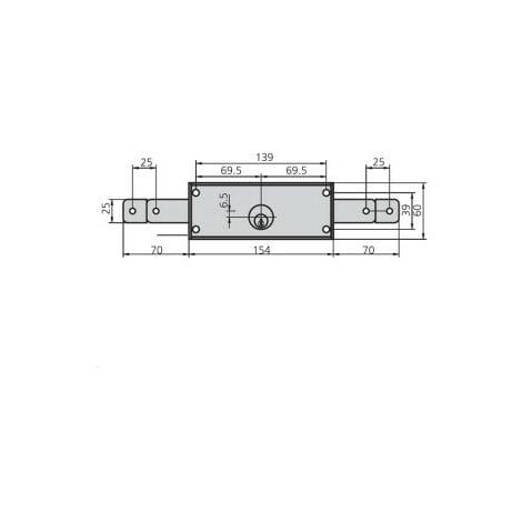 Cerradura cvl 11a carpintería metálica