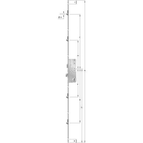 Cerradura de puerta como 8092 Stulp Hell Verz. los 2170mm