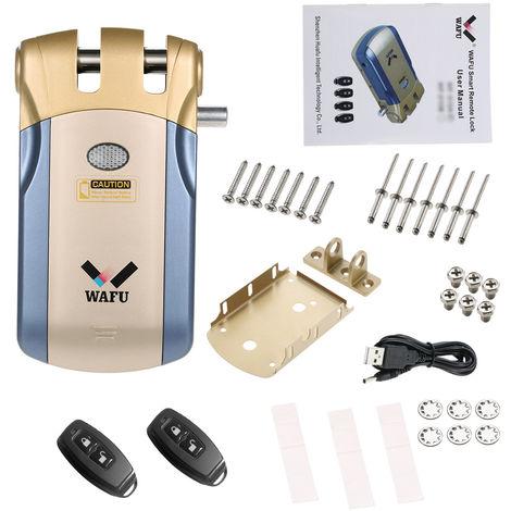 Cerradura electronica WiFi, control remoto, con 2 controles remotos