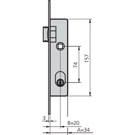 Cerradura embutir acero inox CVL 1964T/6