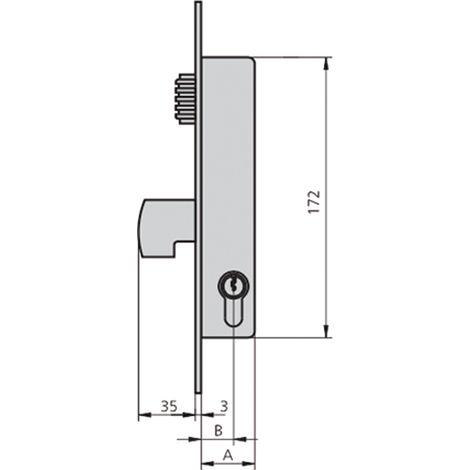 Cerradura embutir acero inox CVL 1990V-20/6 AI