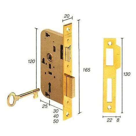Cerradura embutir madera. Mod. 2002