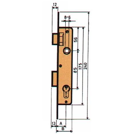 Cerradura Embutir P/metalica - MCM - 1650-21