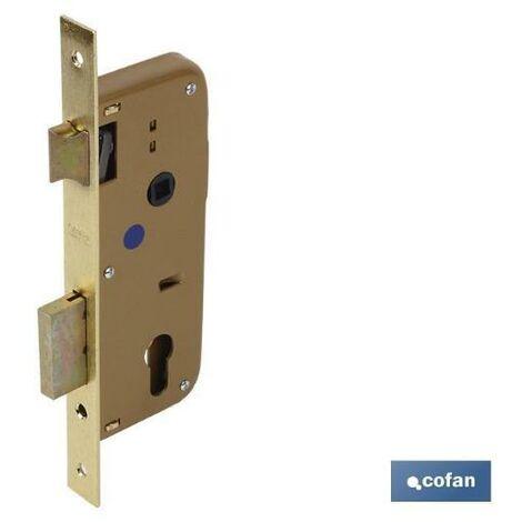 PLIMPO cerradura embutir+cerradero d85 e50- níquel (p/madera