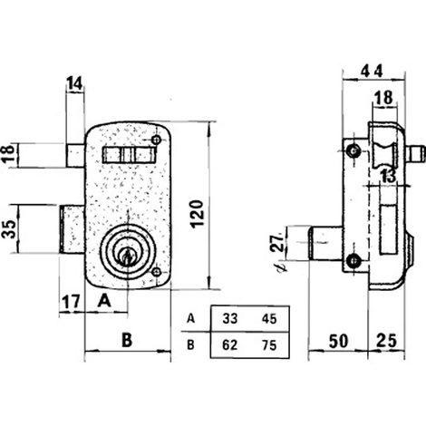 Cerradura Lince 5056-ap/ 60 Derecha