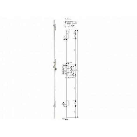 Cerradura Metalica Embutir 25X26Mm 2230L63Ai Inox Multipunto Tesa