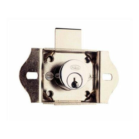 Cerradura Mueble Para Cajon 101/18 mm. Laton