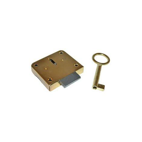 Cerradura mueble parche 42/25 con llave