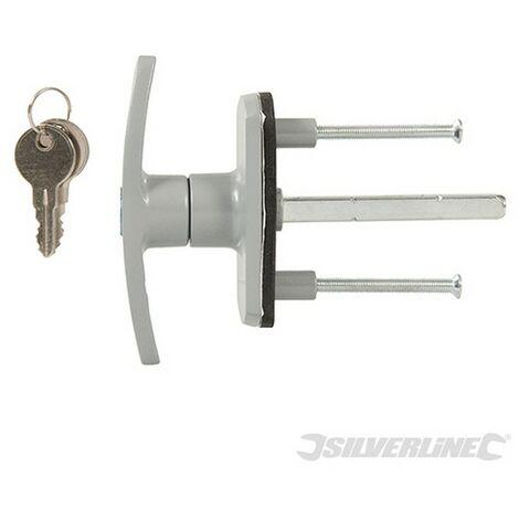 Cerradura para puerta de garaje (75 mm. cuadrada)
