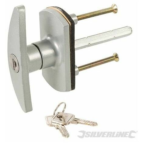 Cerradura para puerta de garaje, 75 mm, diamante