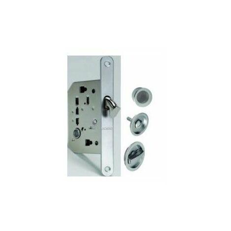 Cerradura Puerta Corredera Niq C/Mule/Boton/Dedal 1095Q Redonda O