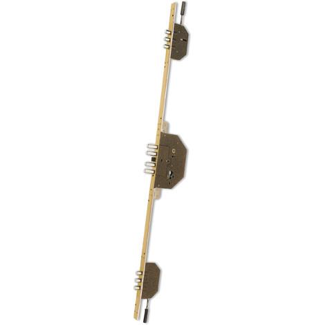 Cerradura Seguridad 3 Puntos Cromada Mate Ds15/60 40 Mm - EZCURRA - E-3040/3