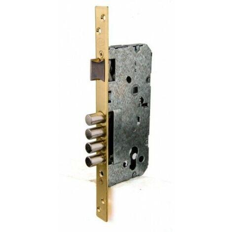 Cerradura Seguridad Madera Embutir 22X50Mm Hl270Sb Laton 1Punto Ucem