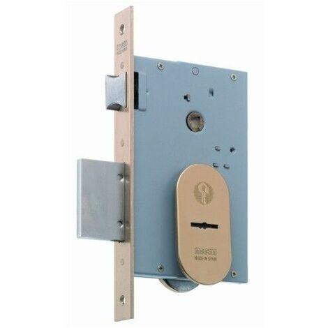 Cerradura Seguridad Madera Embutir 22X9,5X60Mm 1808-60 Laton 3Puntos Mcm