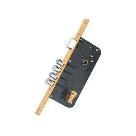 Cerradura Seguridad Madera Embutir 23X50 891280668M3Bc Laton 1Punto Canto Cuadrado Yale
