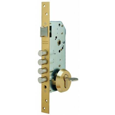 Cerradura Seguridad Madera Embutir 50Mm R100B566E Pintado Oro 1Punto Tesa