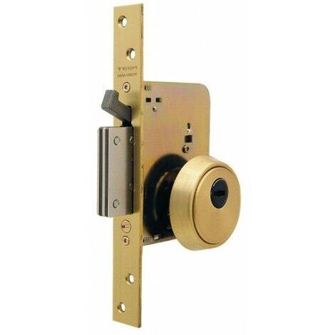 Cerradura Seguridad Madera Embutir 50Mm R201B566L Laton 1Punto Tesa
