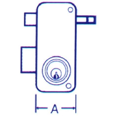 Cerradura Sobreponer Izda - MCM - 2556-APR - 70 I