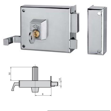 Cerradura Sobreponer Izquierda Esmaltada Marrón - CVL - 125AR10I/1 - 100 MM