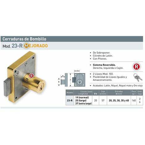 Cerradura Reversible 28R//Bl-25 Urko