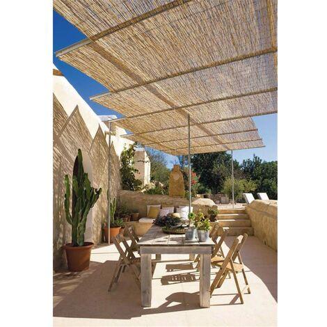 Cerramiento Natural Bambú Fino de ocultación