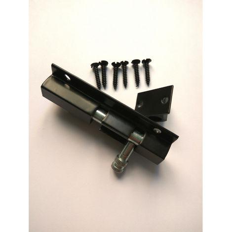 Cerrojillo aluminio 100 mm Negro