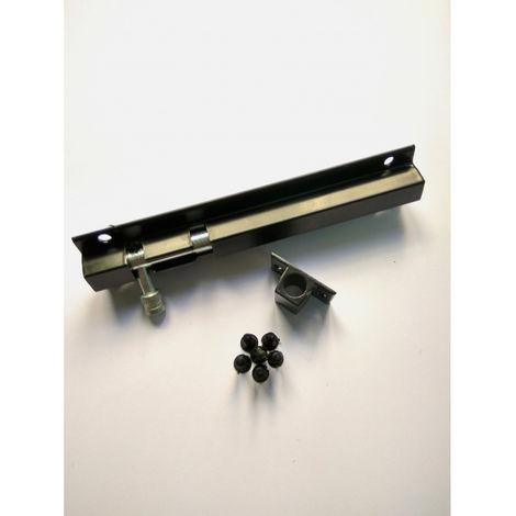 Cerrojillo aluminio 150 mm Negro