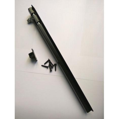 Cerrojillo aluminio 300 mm Negro