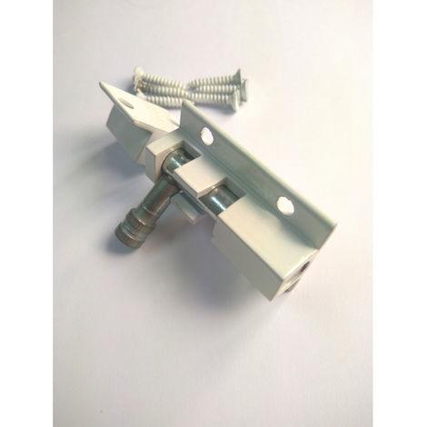 Cerrojillo aluminio 60 mm Blanco