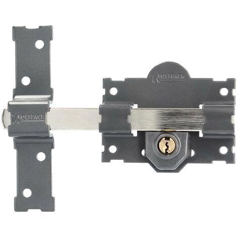 Cerrojo b-4 llave 2 lados pasador de 183mm cilindro redondo de 70mm