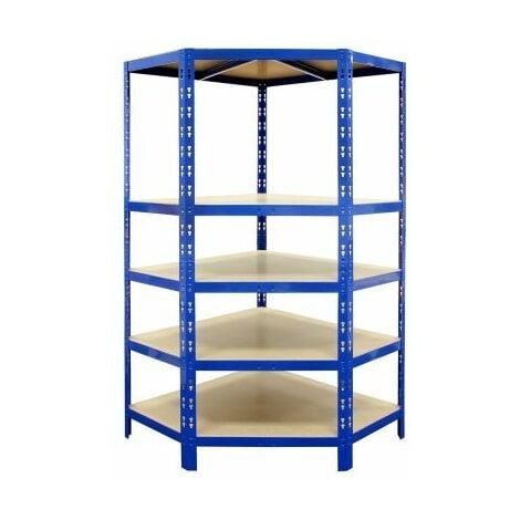 Certeo Schwerlastregal | Eckelement | HxBxT 1800 x 900 x 450 mm | Blau