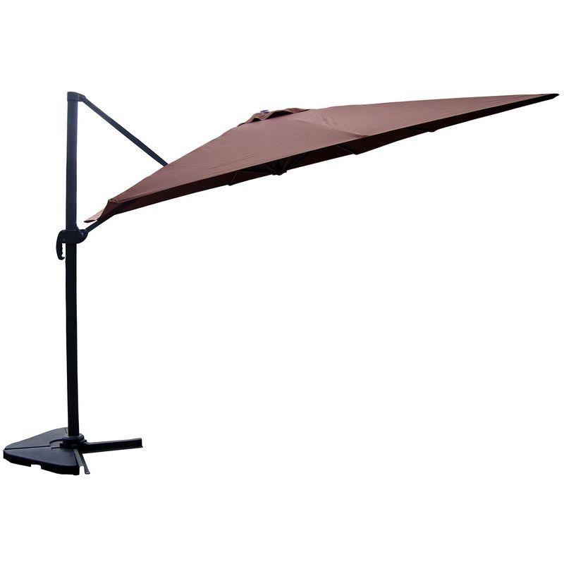 Concept-usine - Cesare chocolat : Parasol déporté, rectangulaire de 3x4m , rotatif à 360°