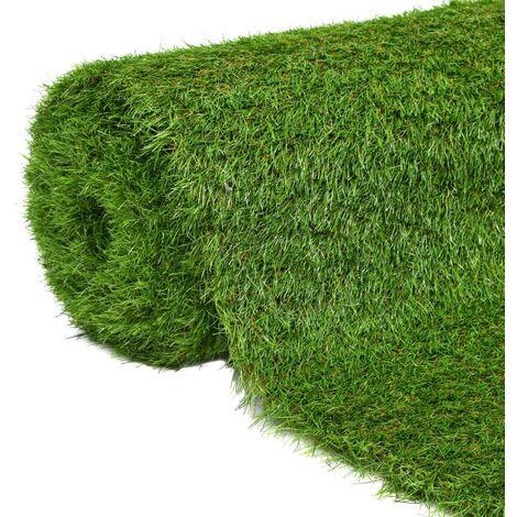 Césped artificial 1x15 m/40 mm verde