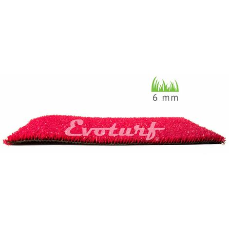 Césped artificial Basic altura 6 mm Evoturf 2X25 RED