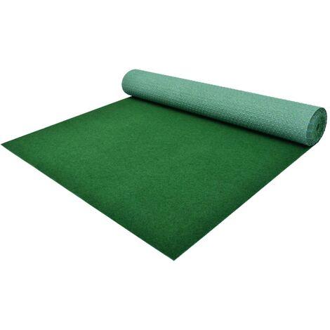 Césped artificial con tacos PP 10x1 m verde