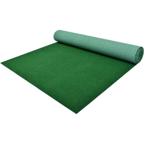 Césped artificial con tacos PP 20x1 m verde