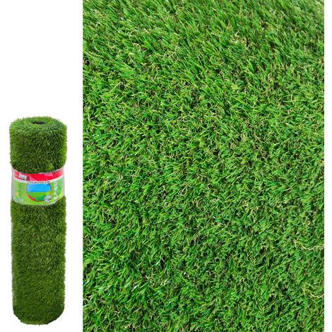 Césped artificial de plástico verde 1x4 metros