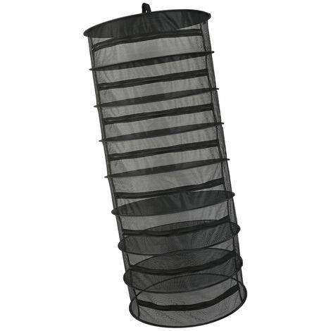 Cesta colgante, 8 capas, con cierre de cremallera plegable seco en rack de secado de hierbas neto