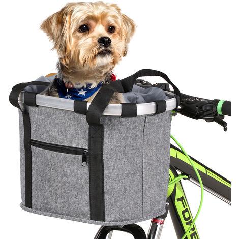 Cesta de bicicleta Bicicleta delantera Bolsa para mascotas Bolsa delantera,gris